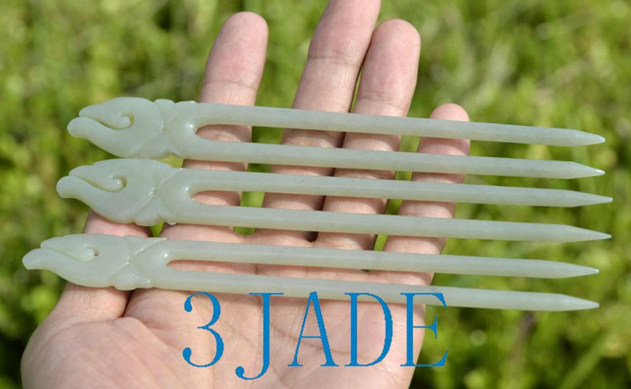 jade fish hook hair com