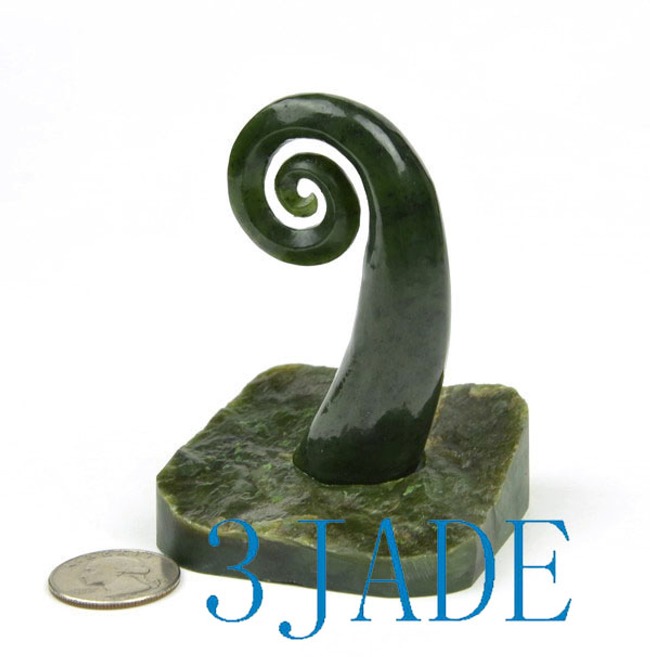 Jade spiral sculpture