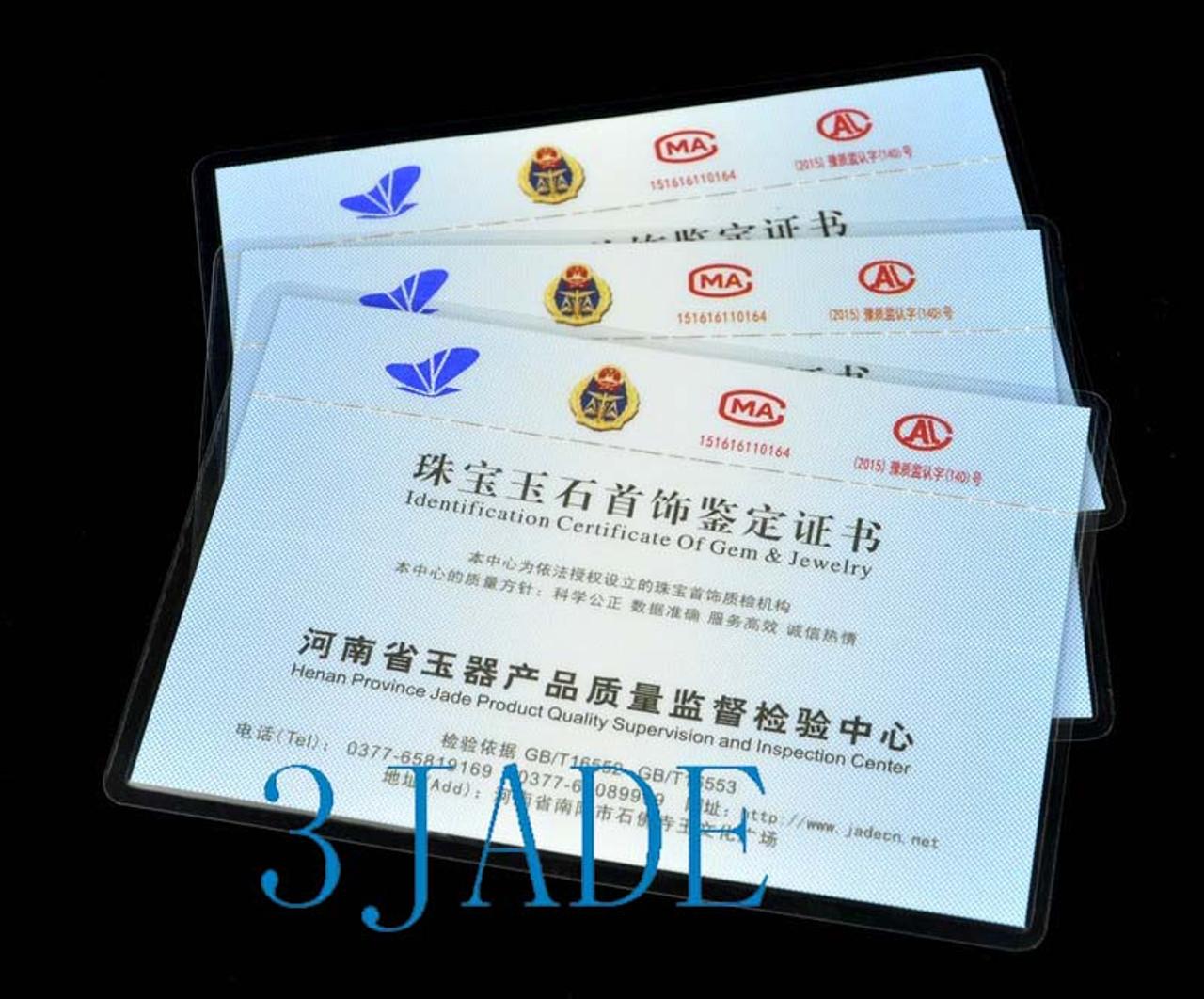 87-88.5mm Huge Black Nephrite Jade Bangle Arm Bracelet Anklet w/ certificate