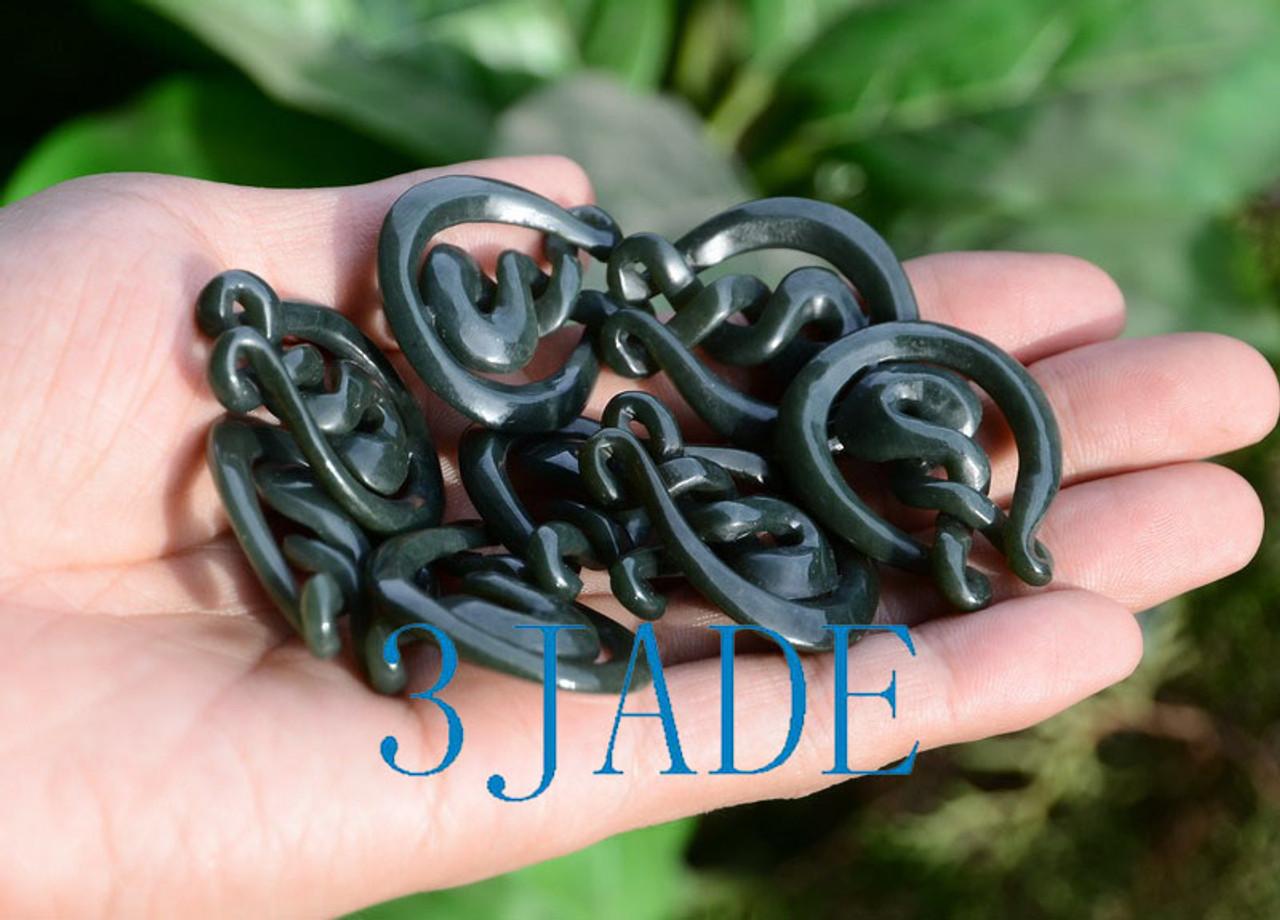 Jade Eternity Twist Pendant