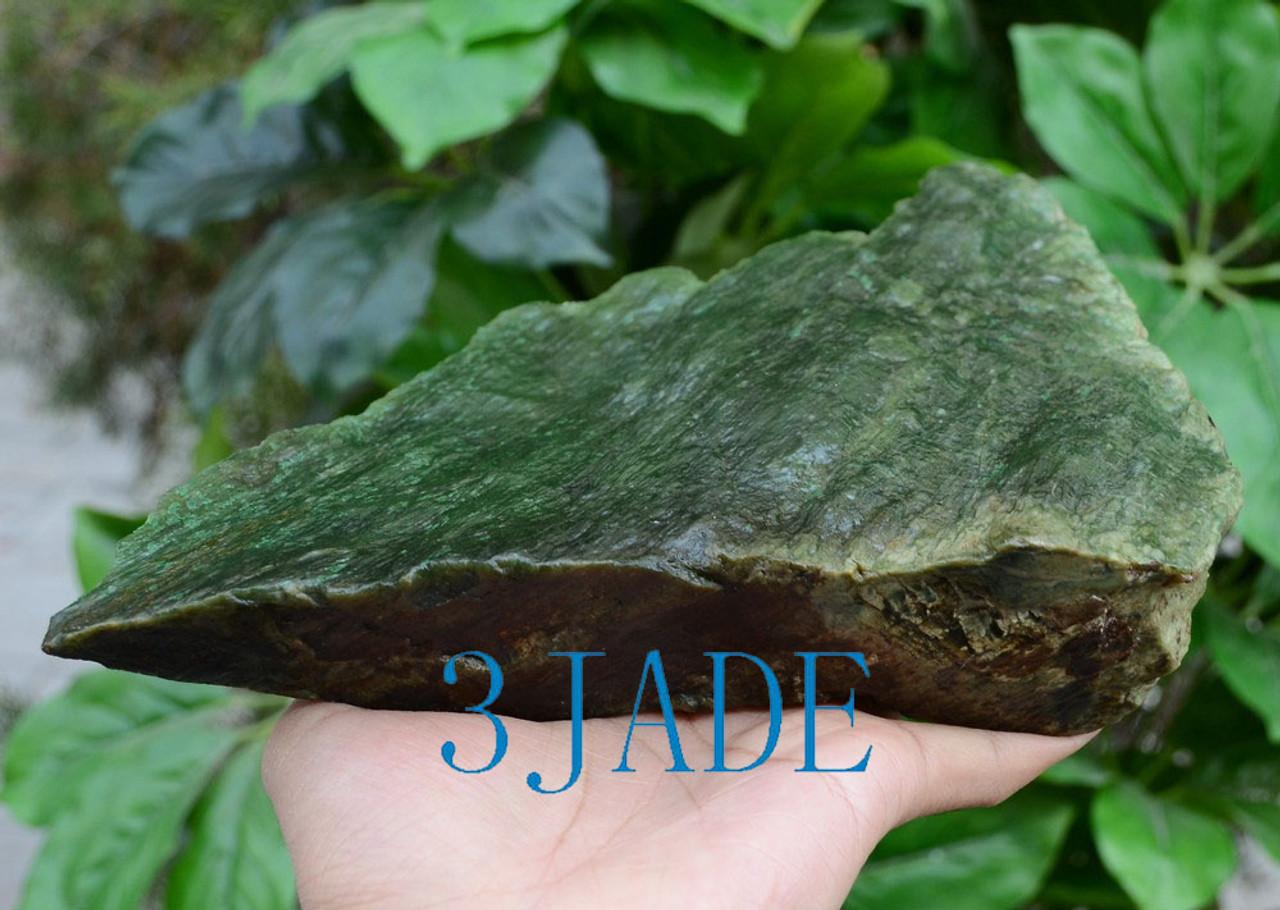 Suiseki Natural Mountain Shape Rough Polar Jade Rock Viewing Stone
