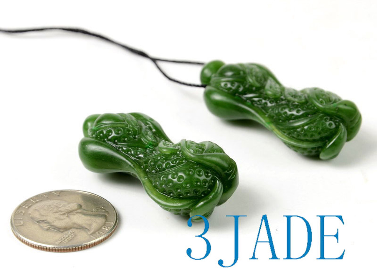Green Jade Cabbage Pendant Necklace