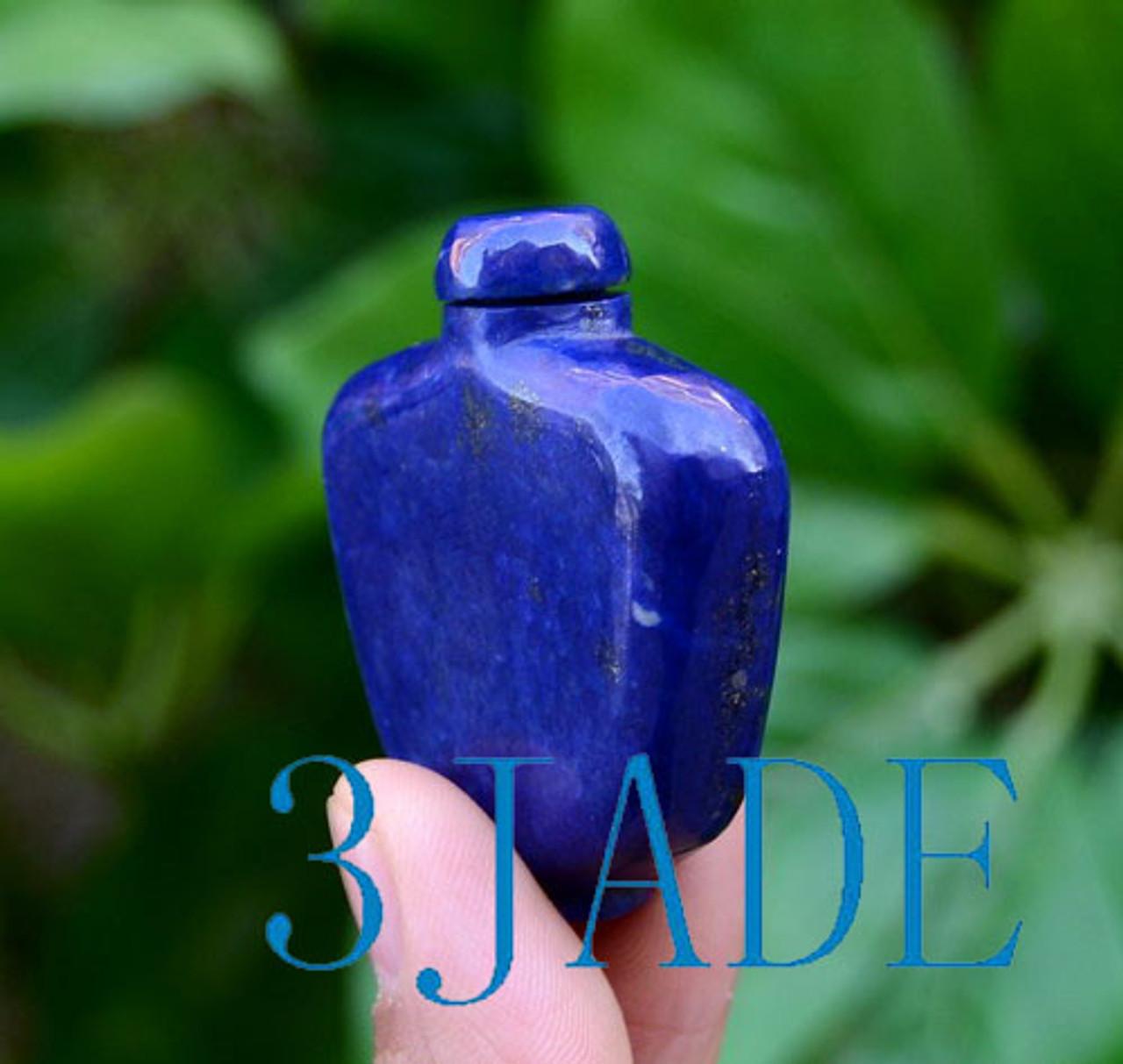 Hand Carved Lapis Lazuli Snuff Bottle