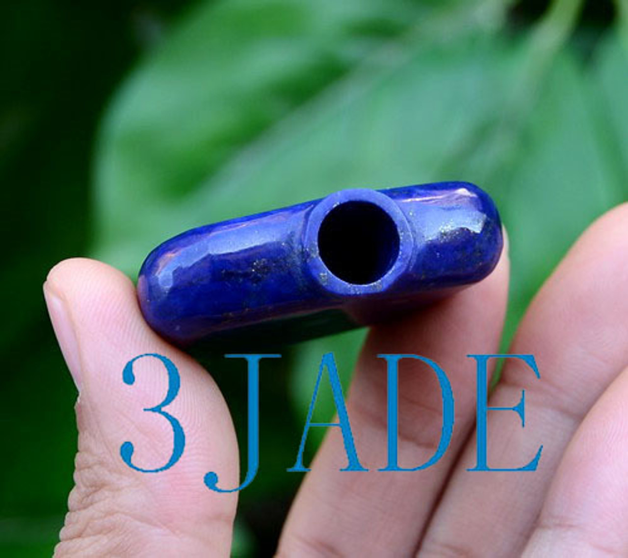 Hand Carved Natural Lapis Lazuli Chinese Snuff Bottle