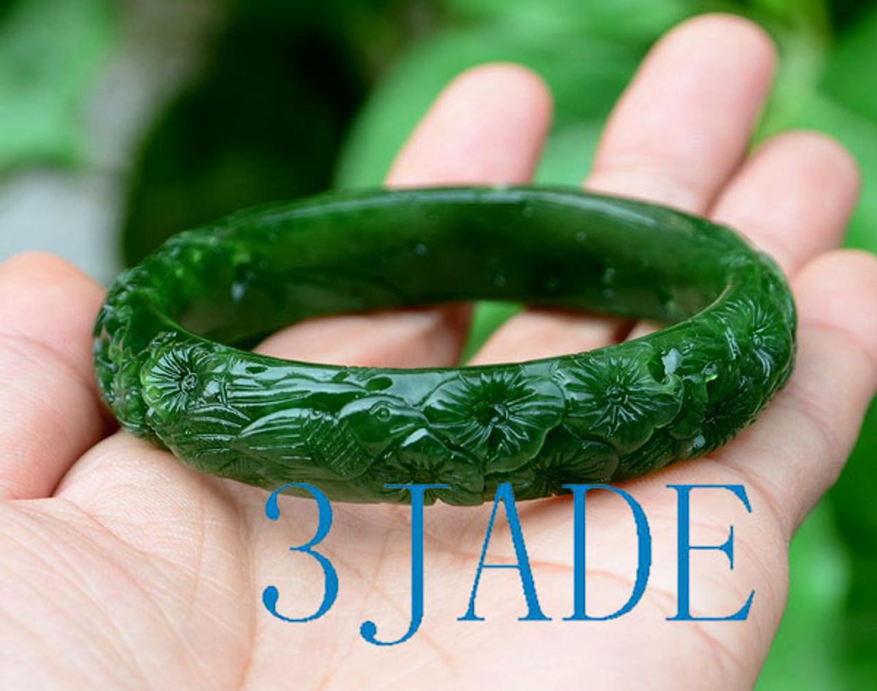 Neckskettebracelet Jade green