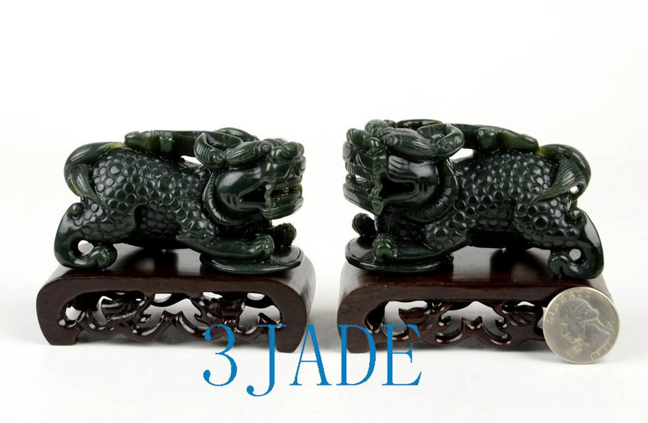 Nephrite Jade Pixiu Figures