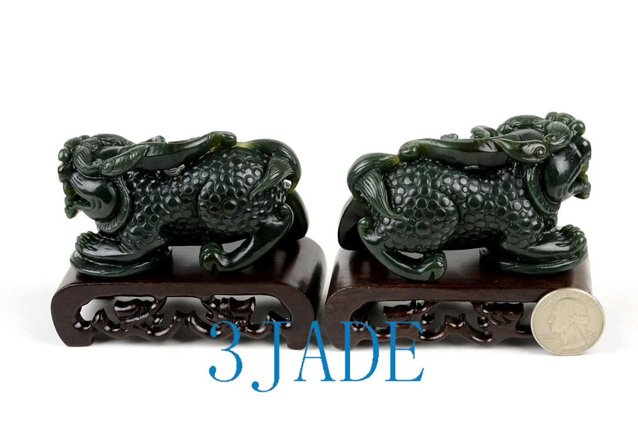 Jade Brave Troops Sculpture