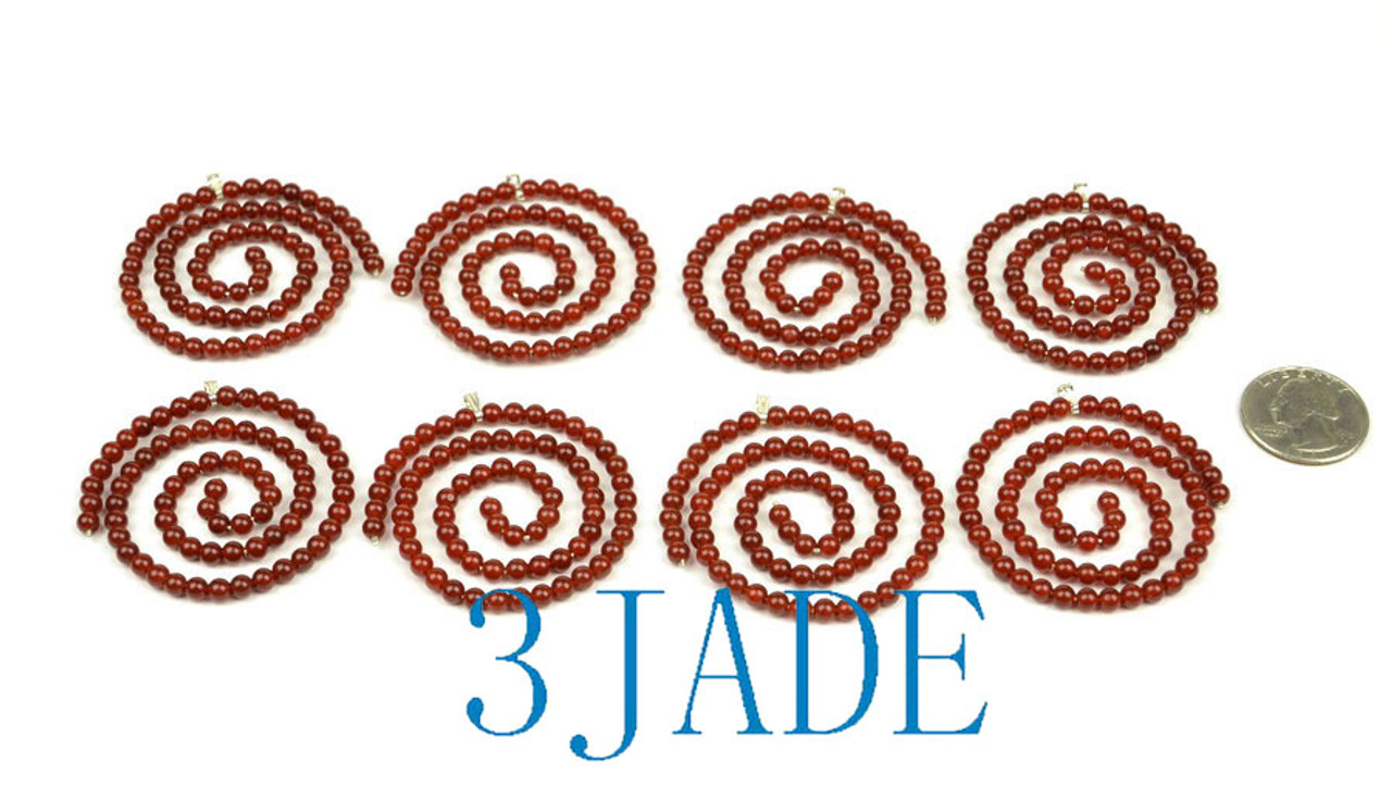 Red Agate Beaded Spiral