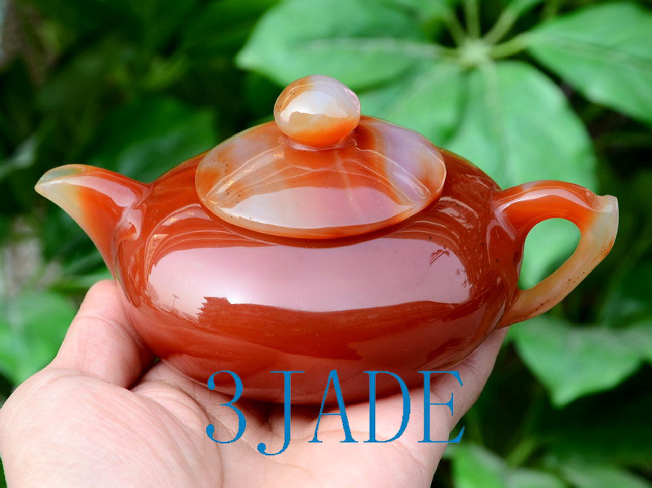 Hand Carved Stone Teapot