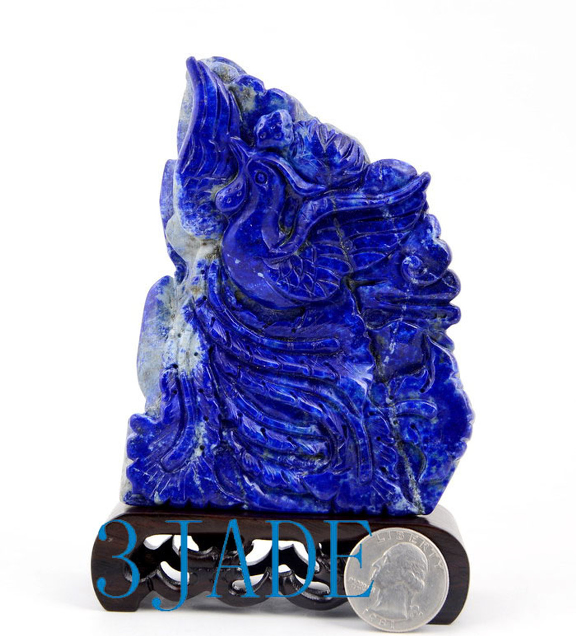 Lapis Lazuli Mythical Phoenix Bird Sculpture