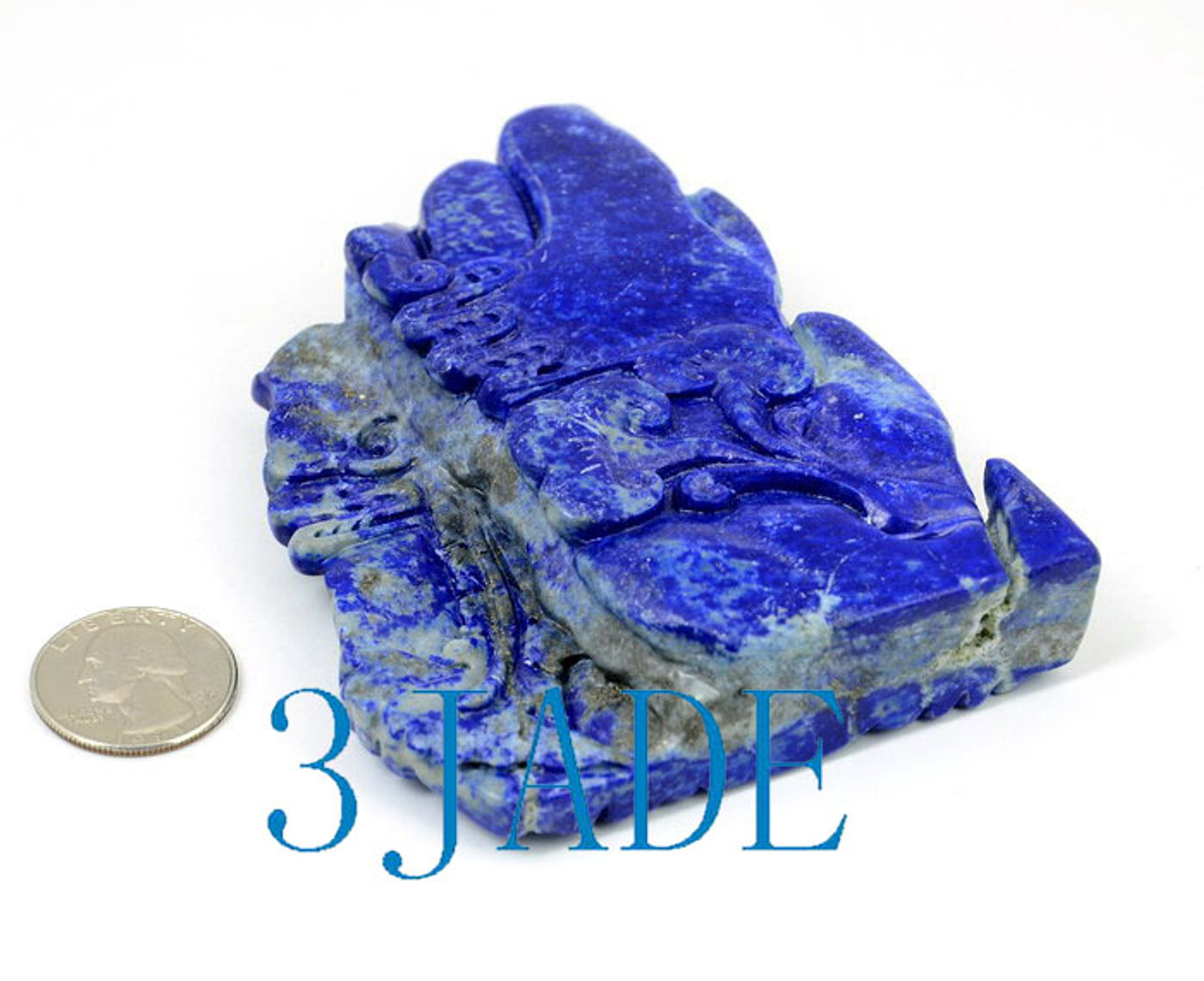 Natural Lapis Lazuli Mythical Phoenix Bird / Chinese FengHuang Statuette