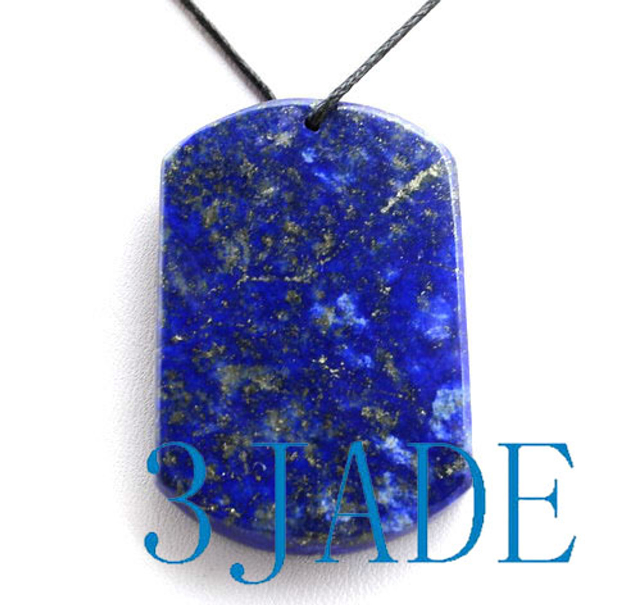 Natural Lapis Lazuli Gemstone Uphill Tiger Pendant Necklace