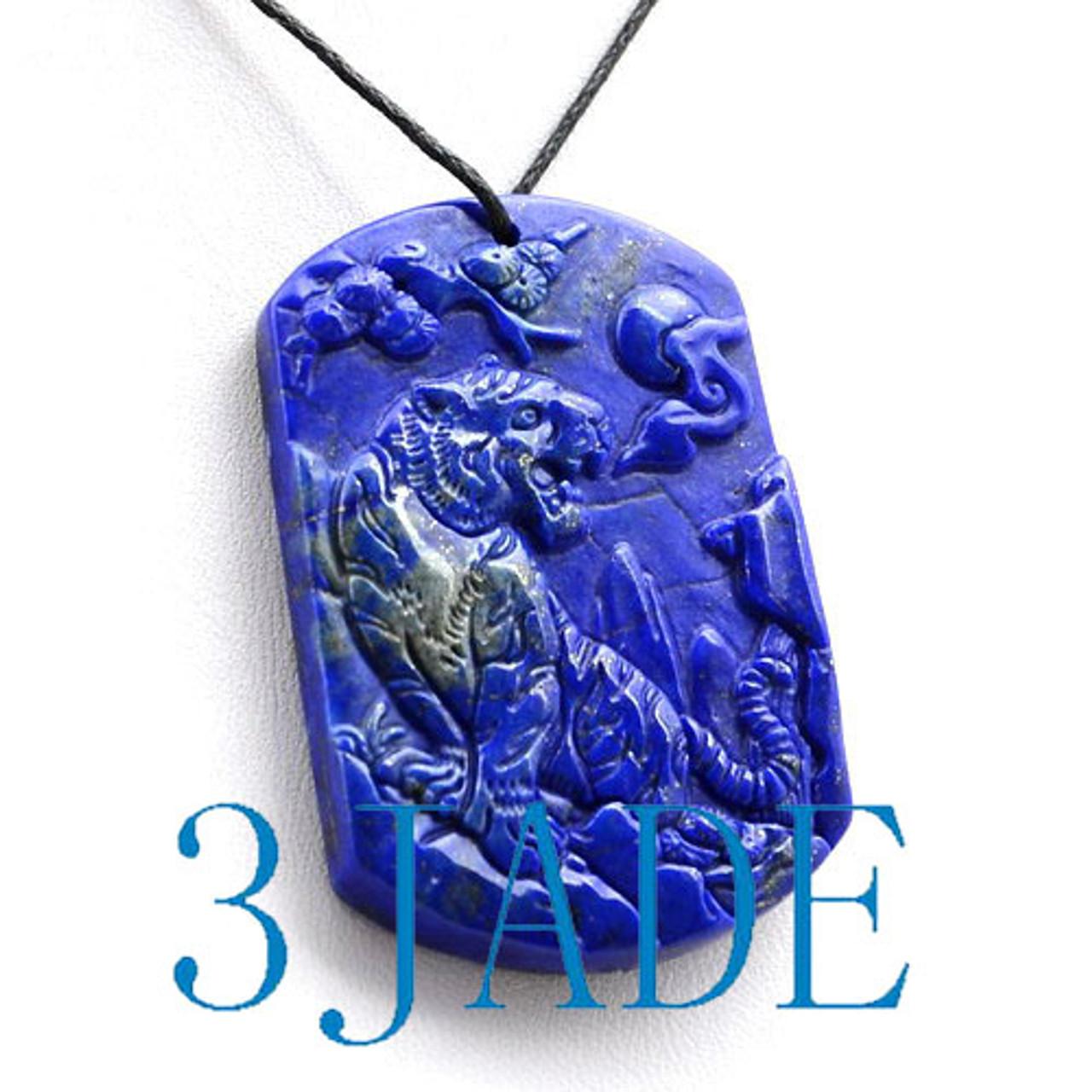Lapis Lazuli  Tiger Necklace