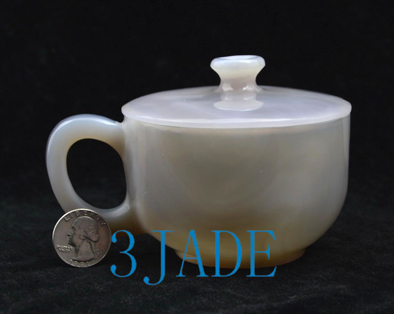 Hand Carved Agate Coffee Cup