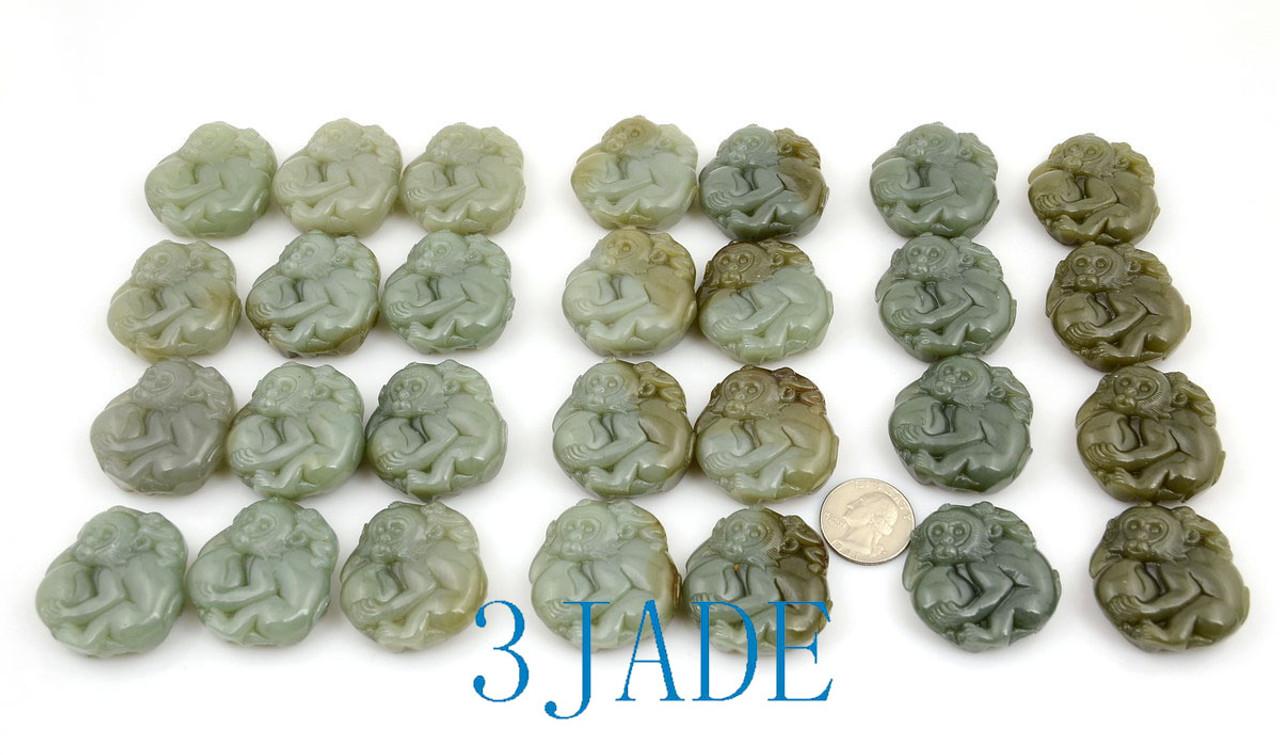 Jade Monkey Pendant Necklace Wholesale