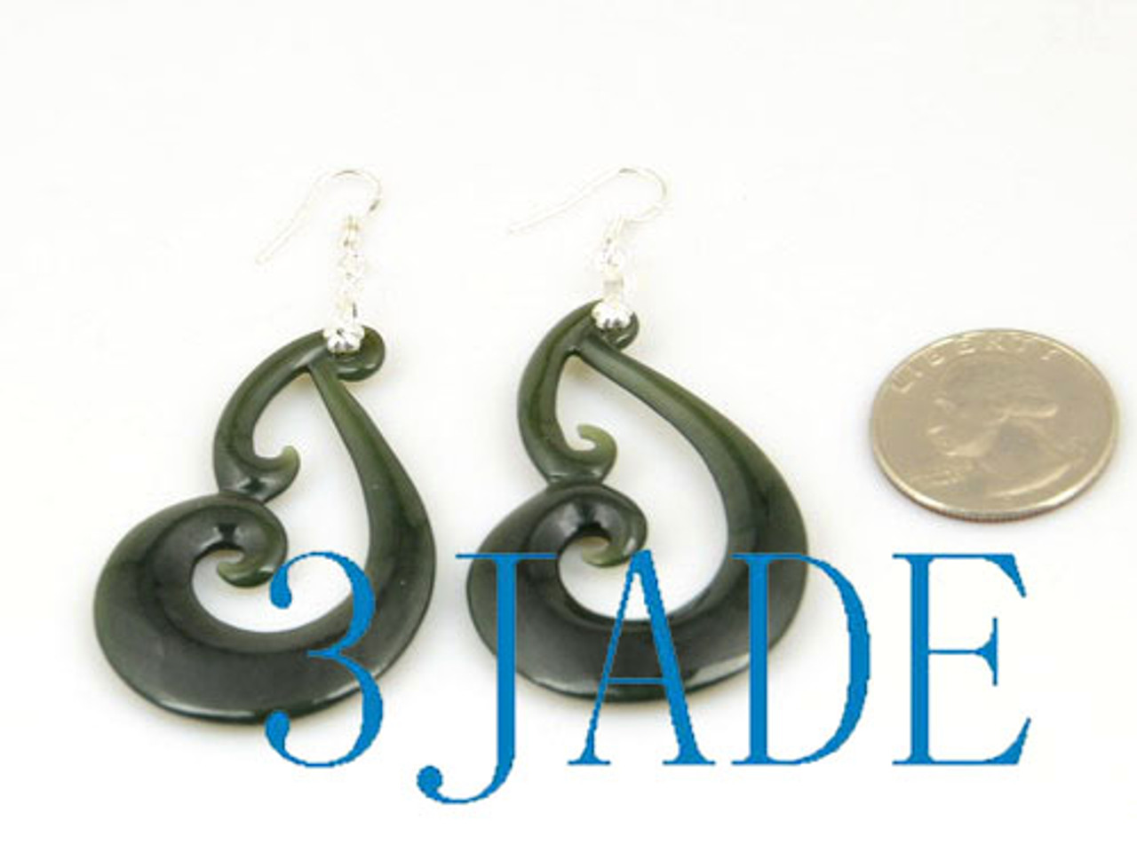 New Zealand Maori Style jade earrings
