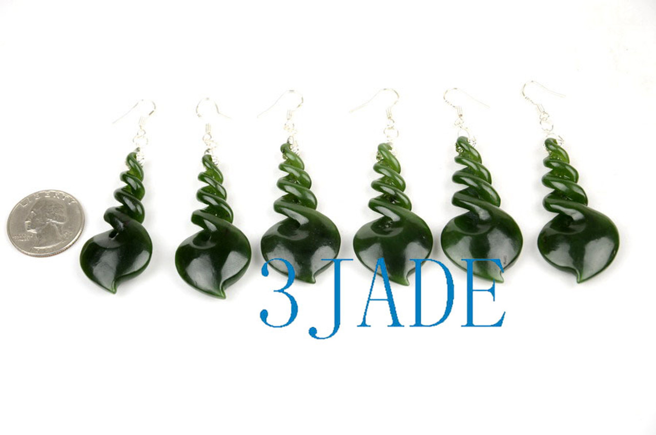 Pounamu twist earrings