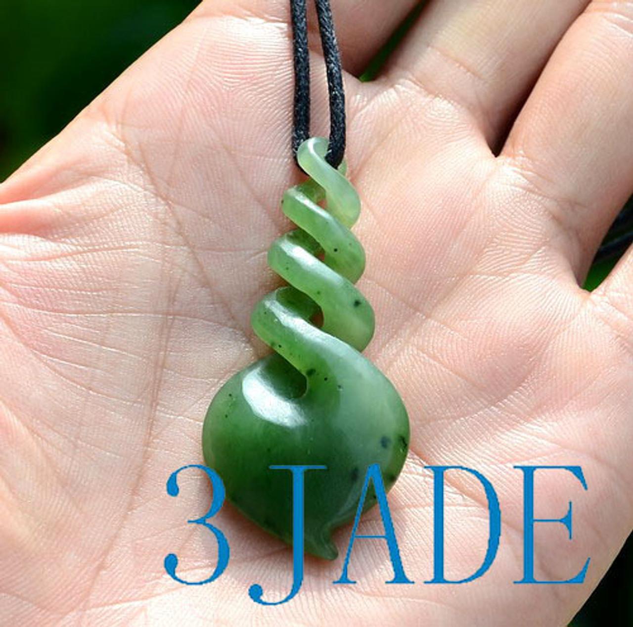 greenstone quad twist pendant