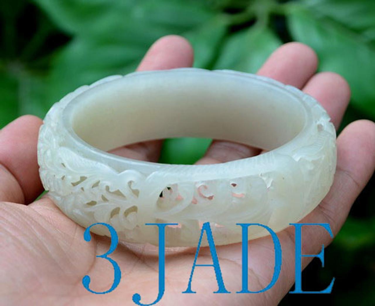 67mm Carved Jade Bangle
