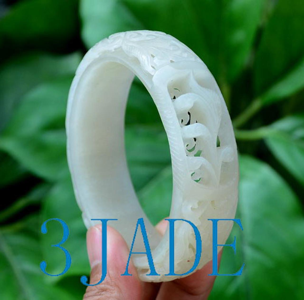 Carved Hetian Jade Bangle