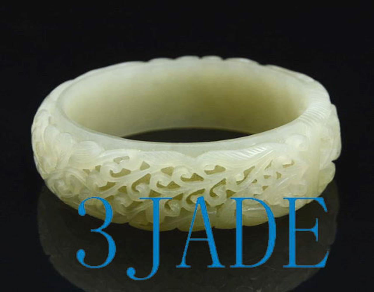 Large Size Carved Jade Bangle