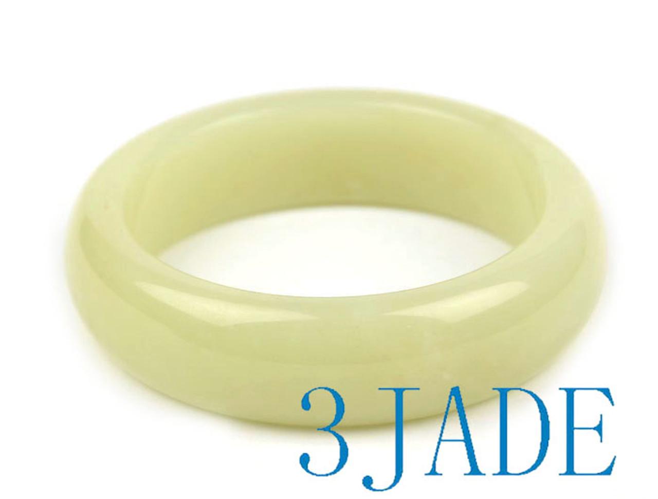 White Hetian Jade Bangle