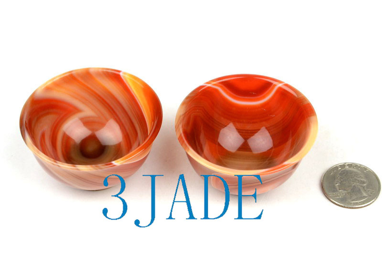 Red Agate Shot Glass