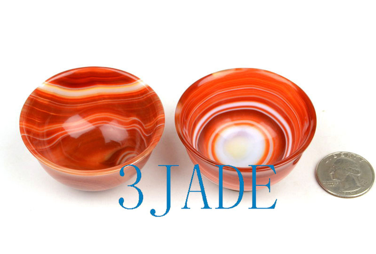 Red Agate Tea Cup
