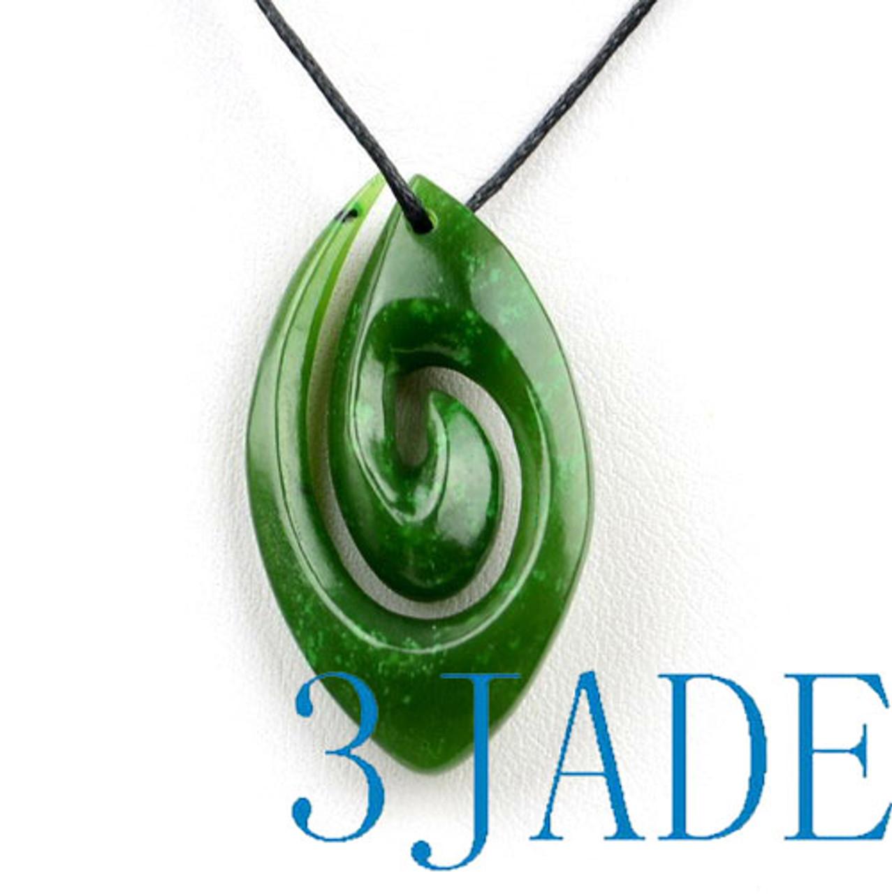 Greenstone Koru Pendant Necklace
