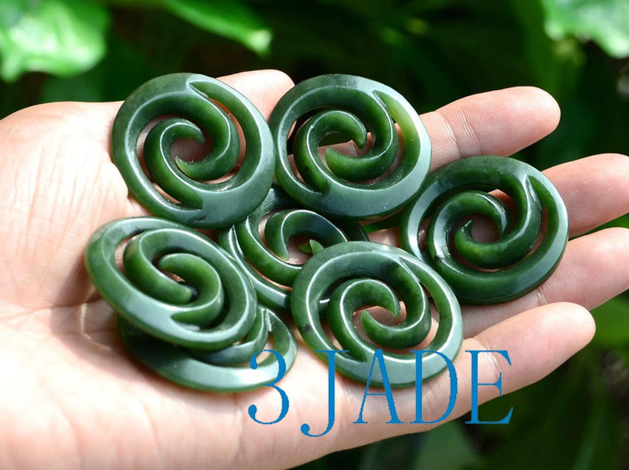 Maori Jade Koru