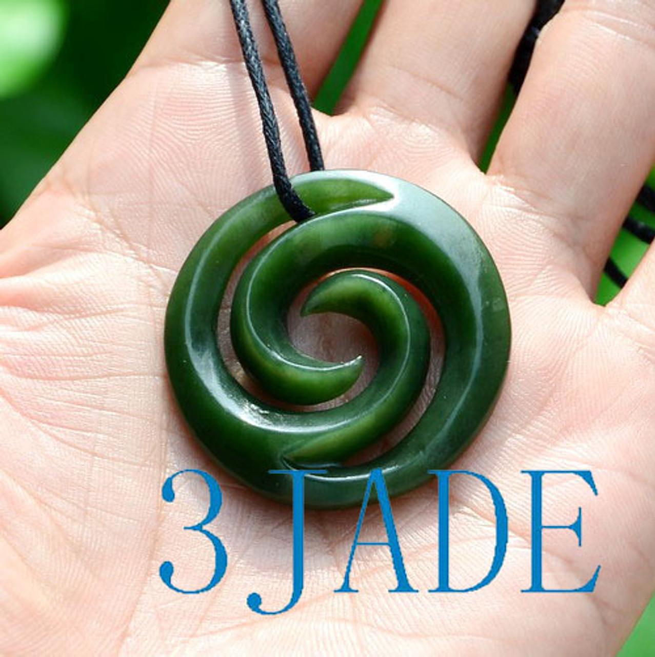 Green Nephrite Jade Spiral