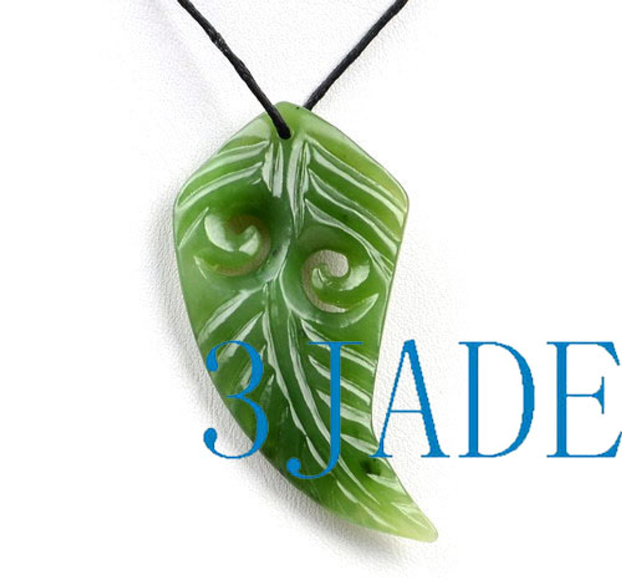 Hand Carved Jade Fern Leaf