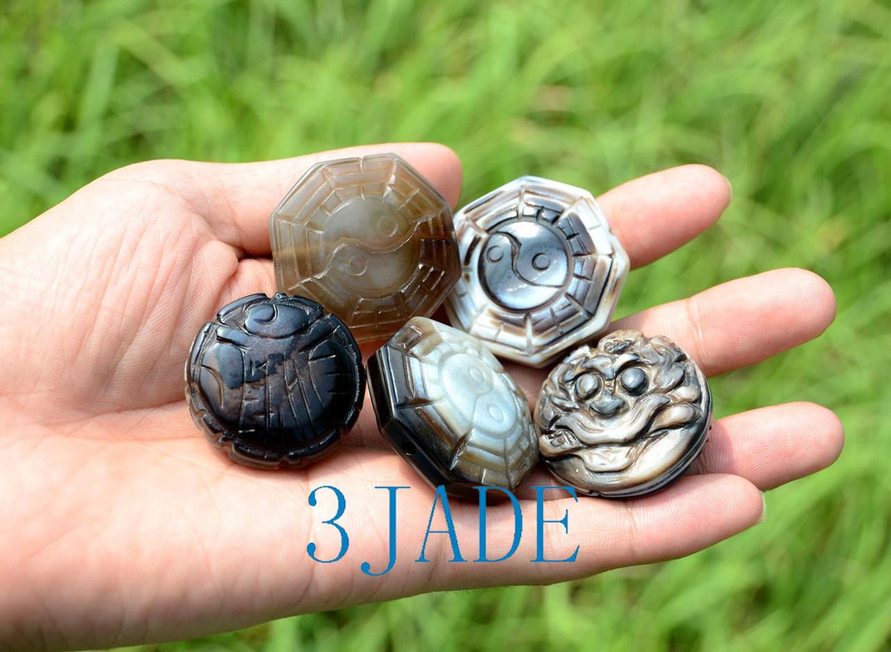 10pcs Tibetan Ritual DZI Heaven Eye Pendants Powerful Energy Pendants Amulets Wholesale