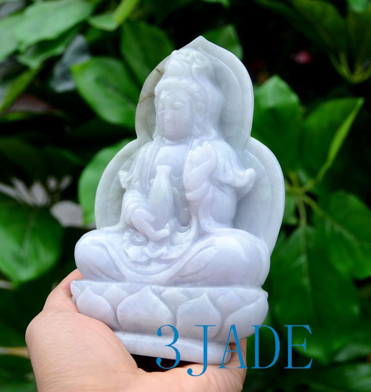 A Grade Jadeite Jade Guanyin Sculpture