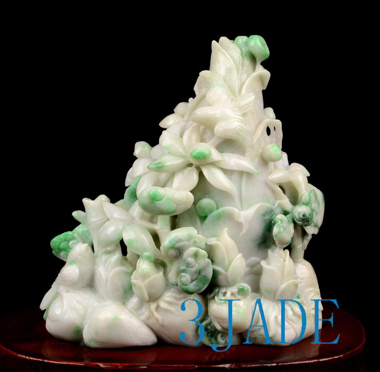 Jadeite Jade Bamboo Shoots Carving