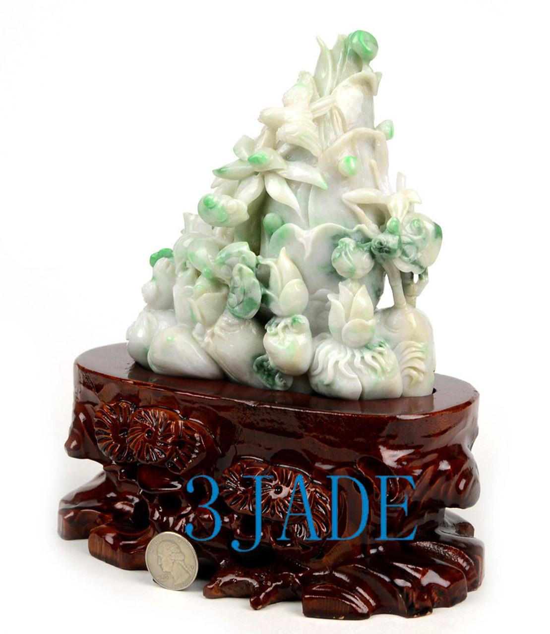 Jadeite Jade Bamboo Shoots Sculpture
