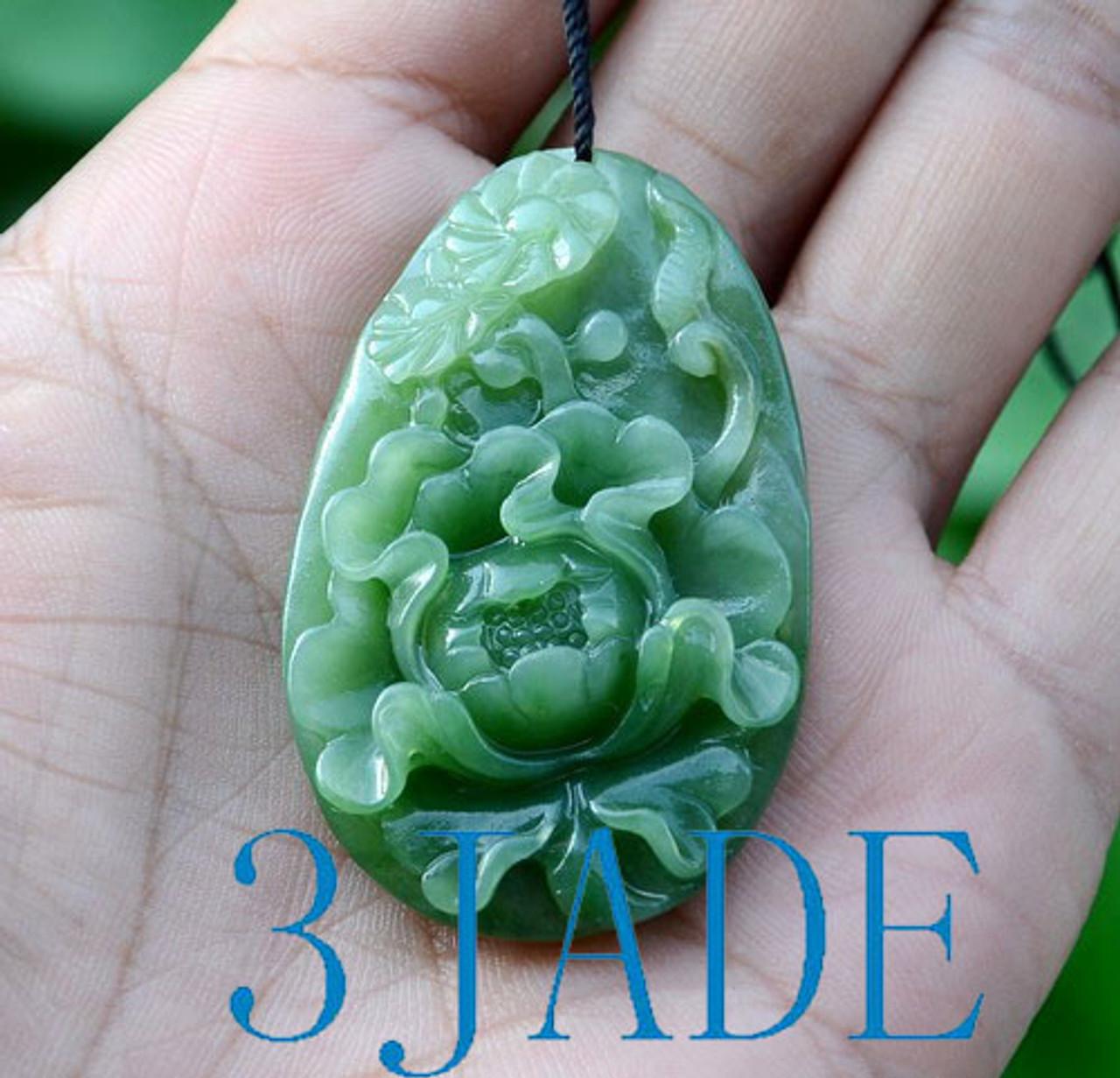 Carved Jade Peony Flower