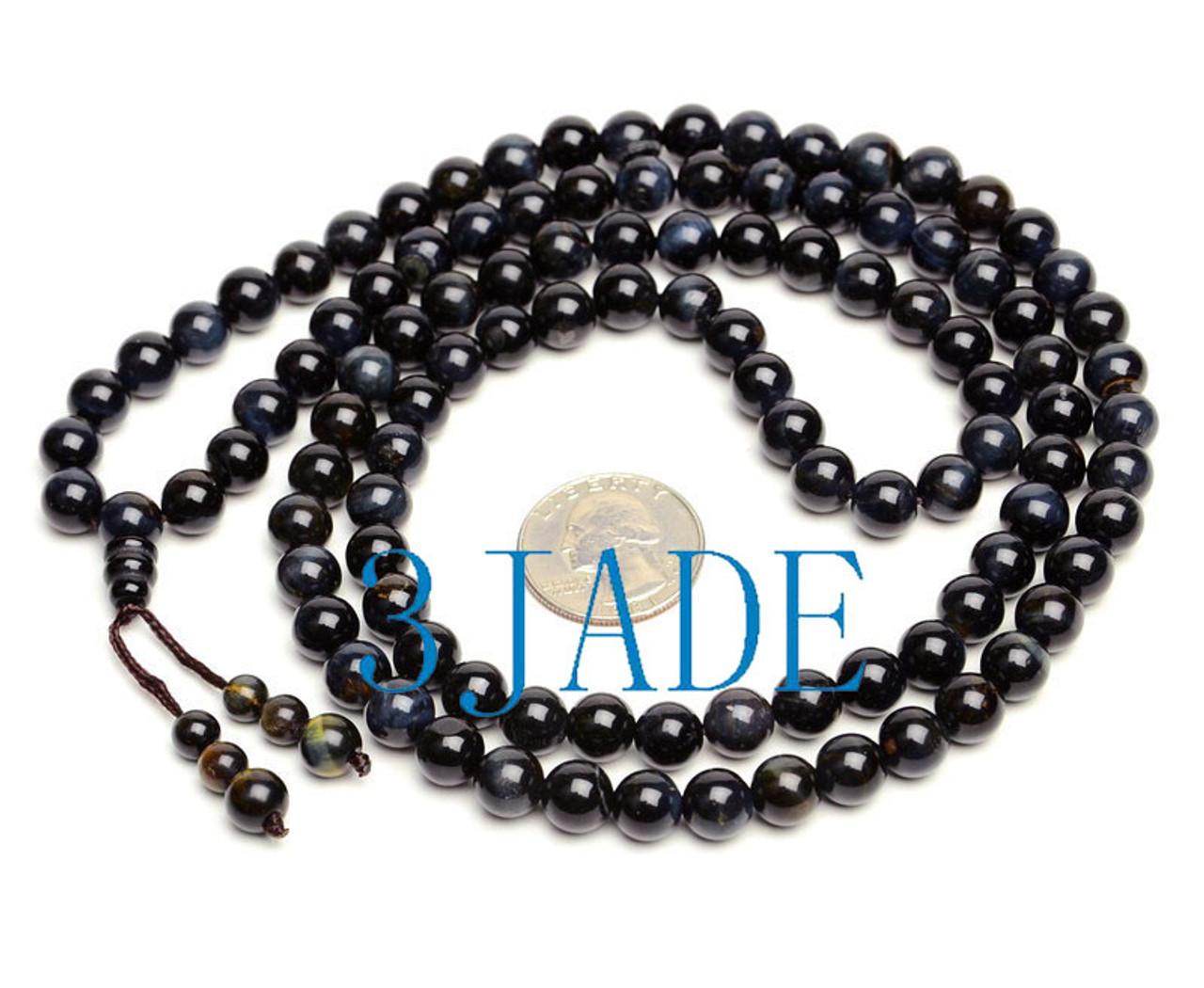 Blue Tiger's Eye Gemstone Prayer Beads
