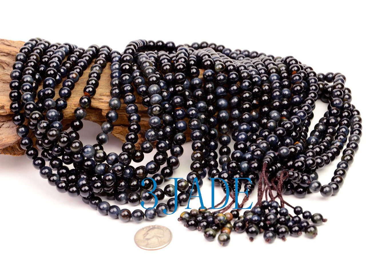 Natural Blue Tiger's Eye Prayer Beads