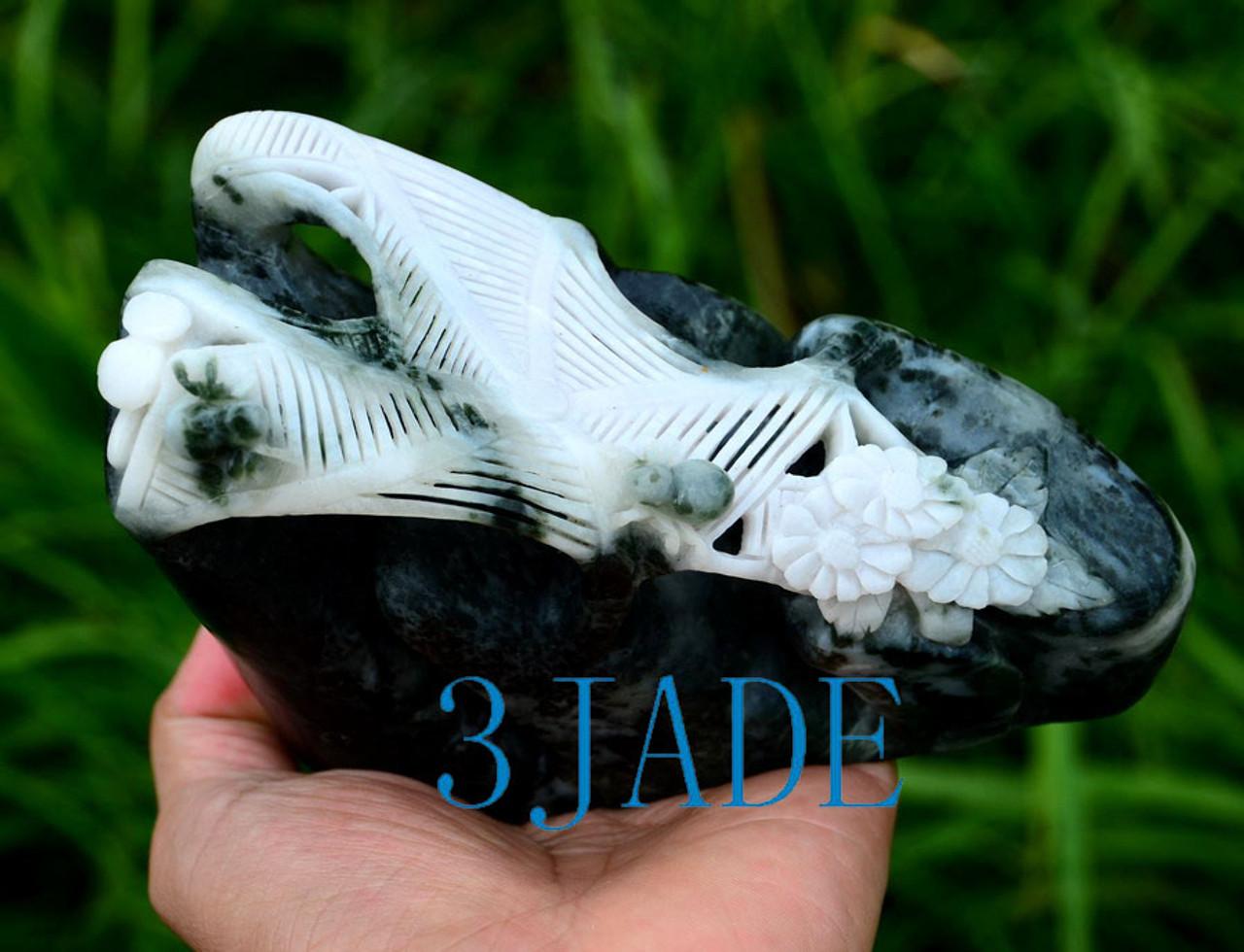 Hand Carved Jade Spider