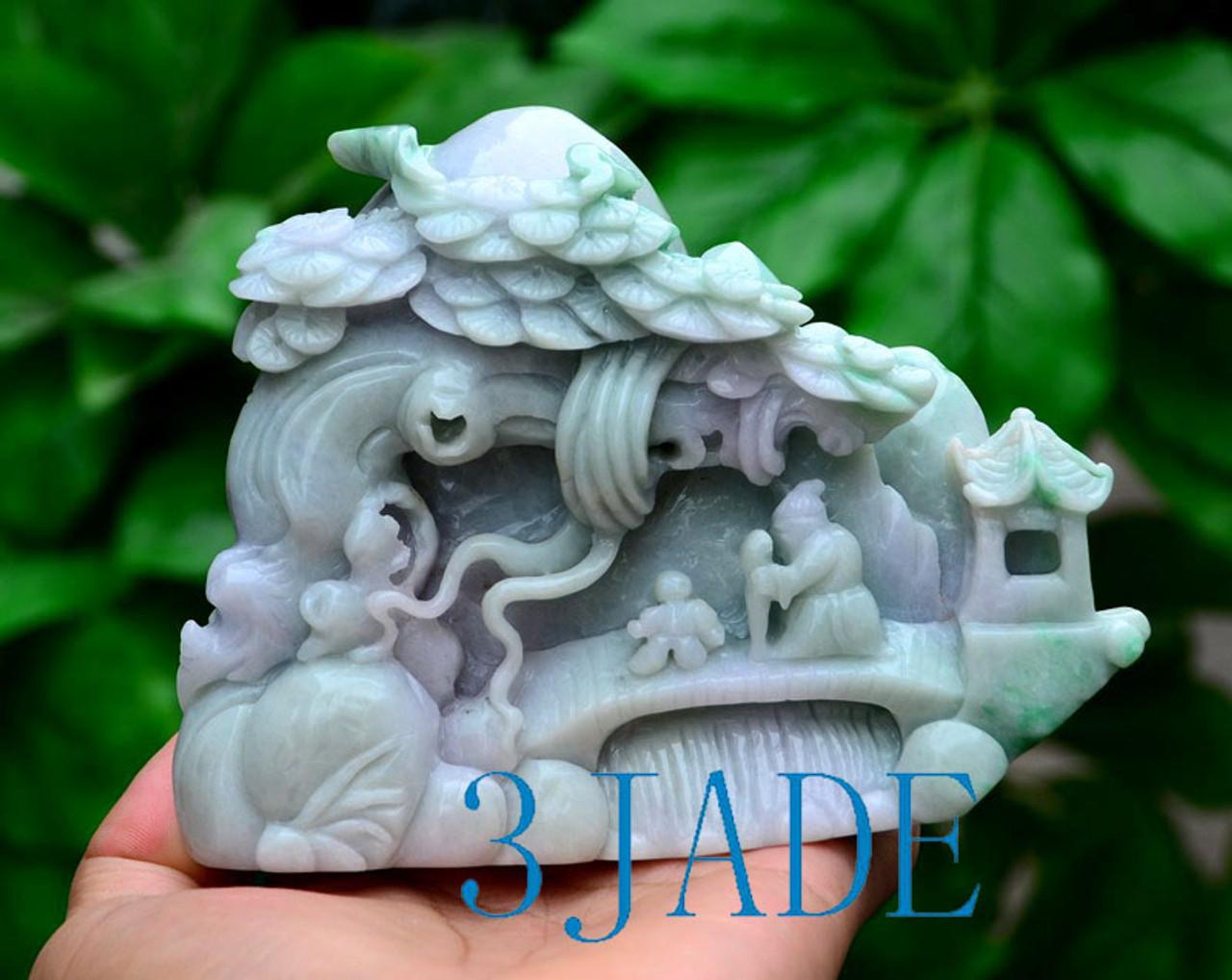 Jadeite Jade Village Scene