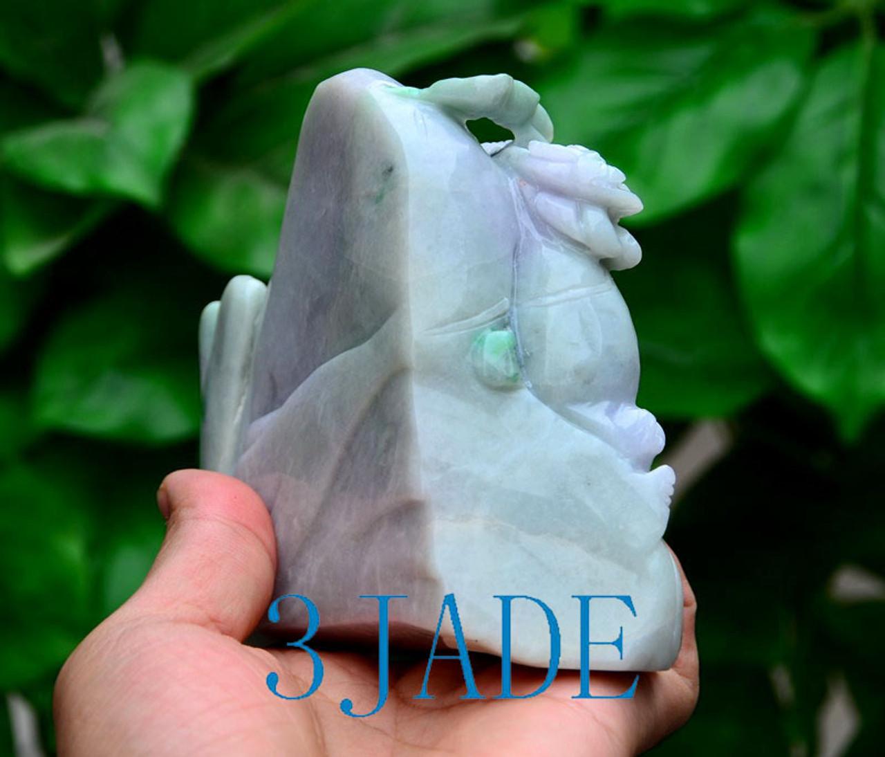A Grade Jadeite Jade Carving Village Scenery Sculpture w/ certificate