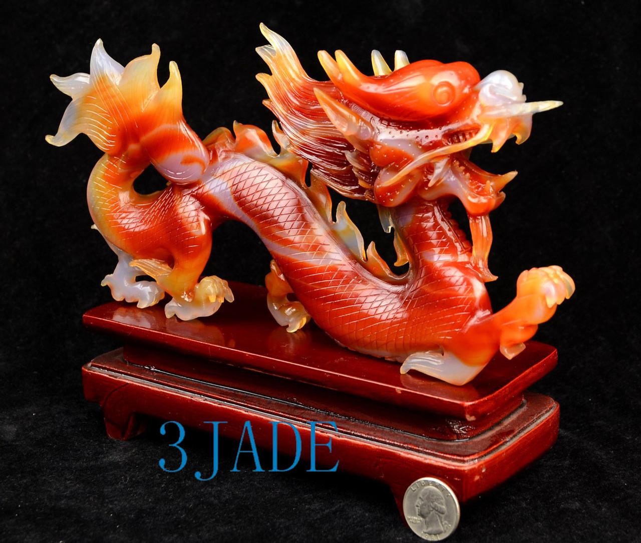 Carnelian Dragon Sculpture