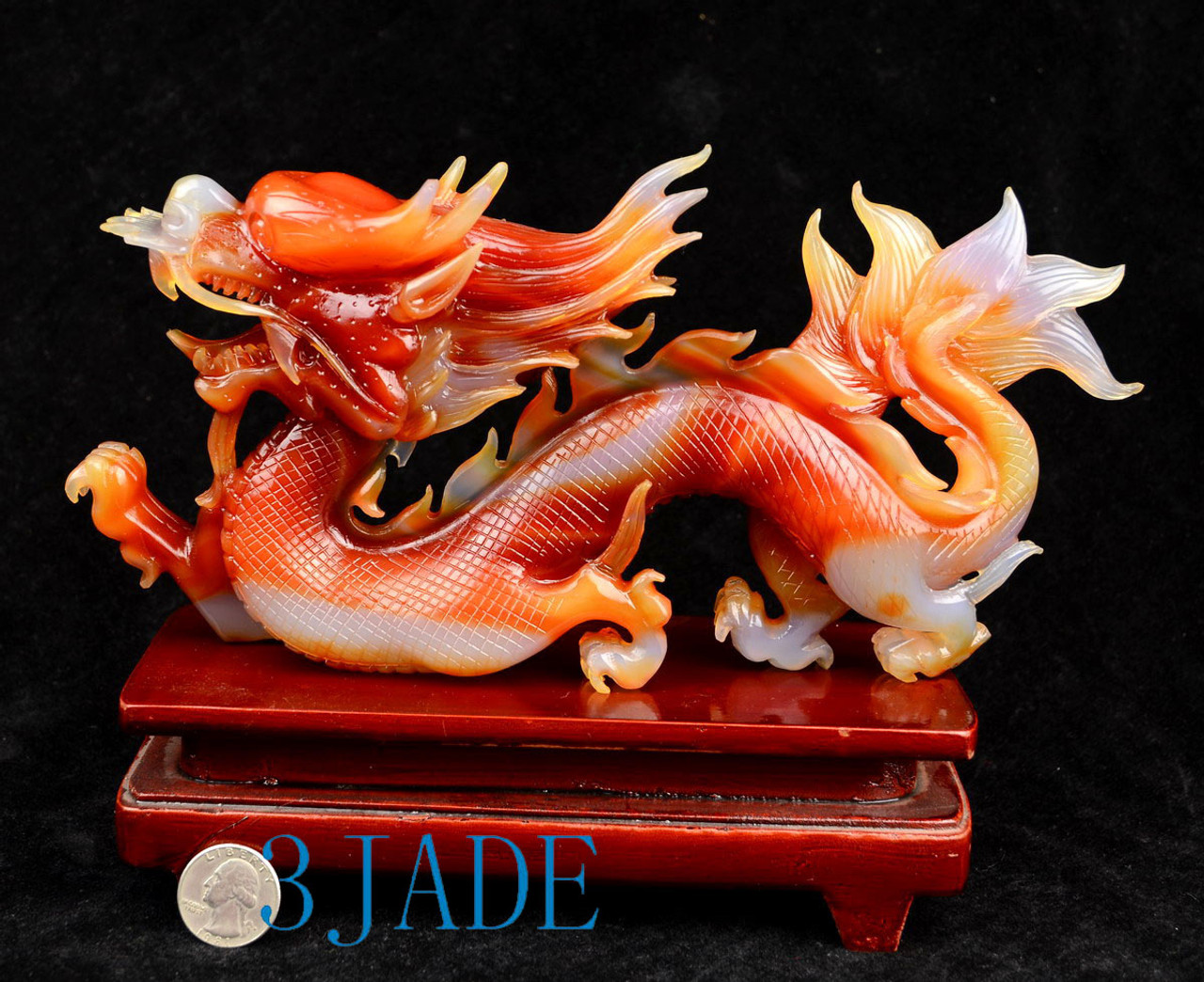 Stand Chinese Dragon Statue