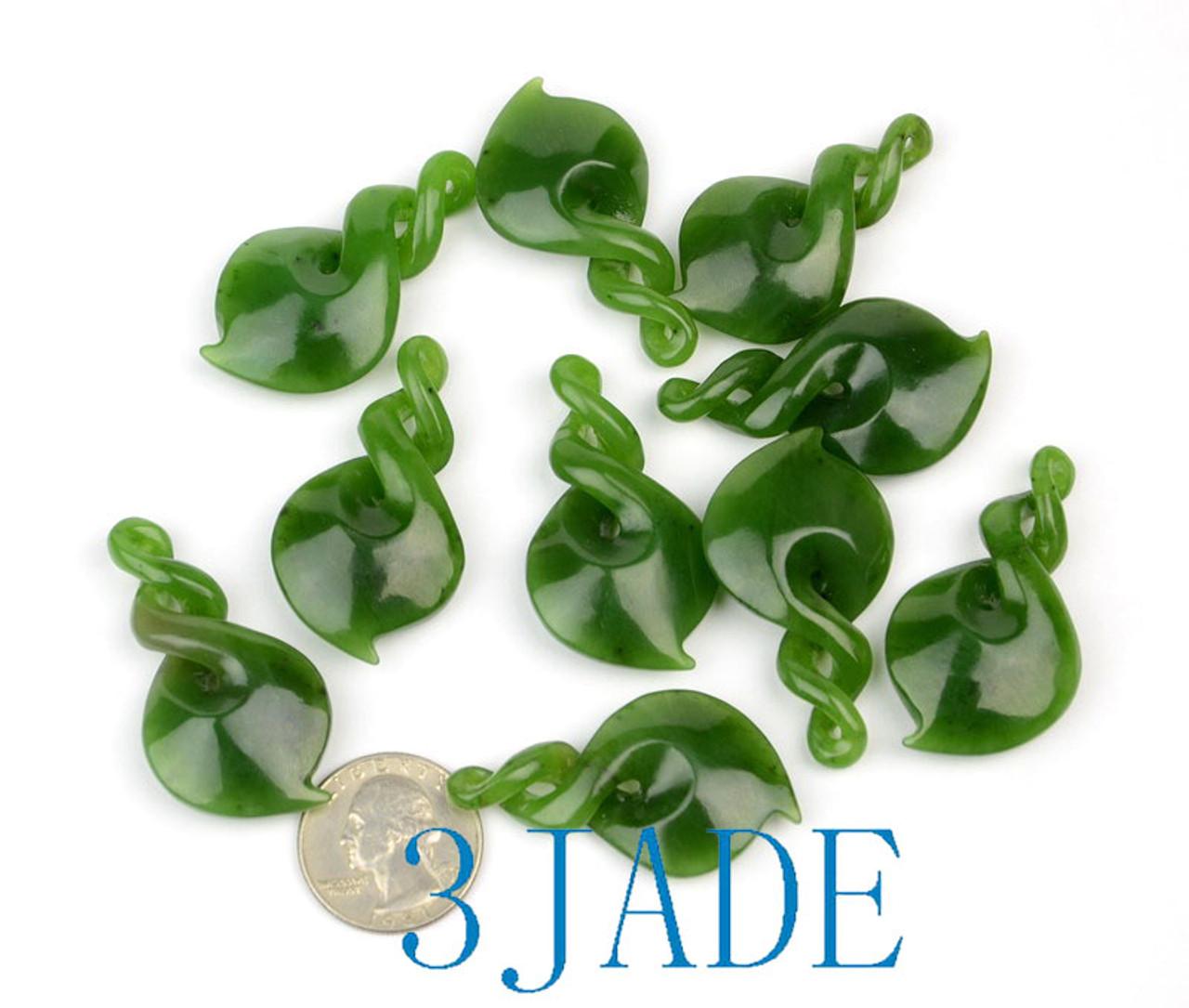 Maori Jade Double Twist pendant