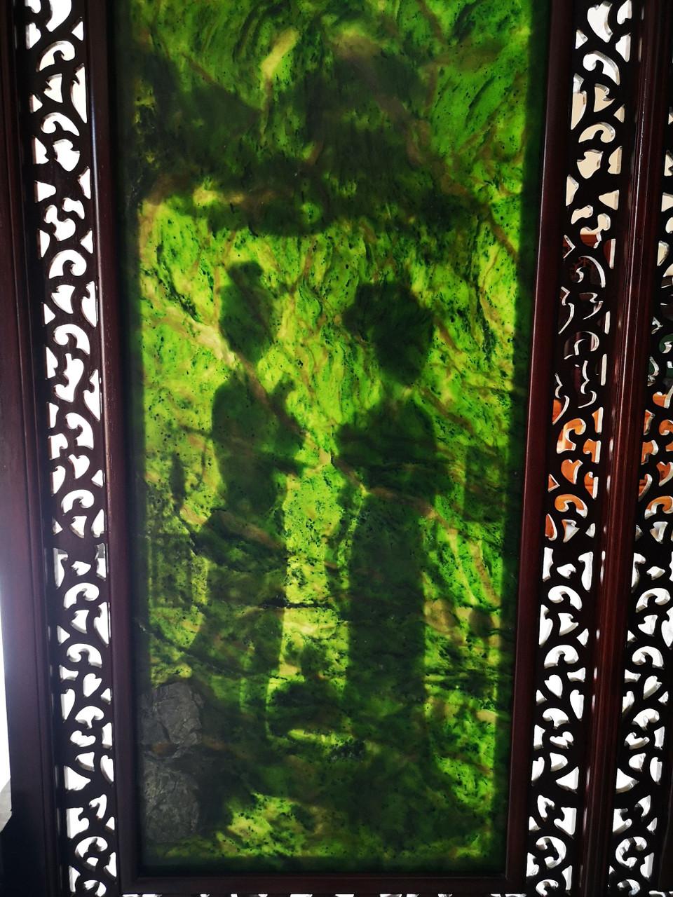 large jade decor.