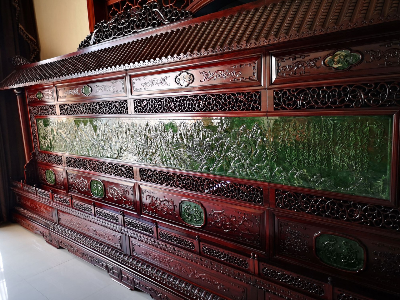 Spinach Green Jade Chinese Screen The Great Wall
