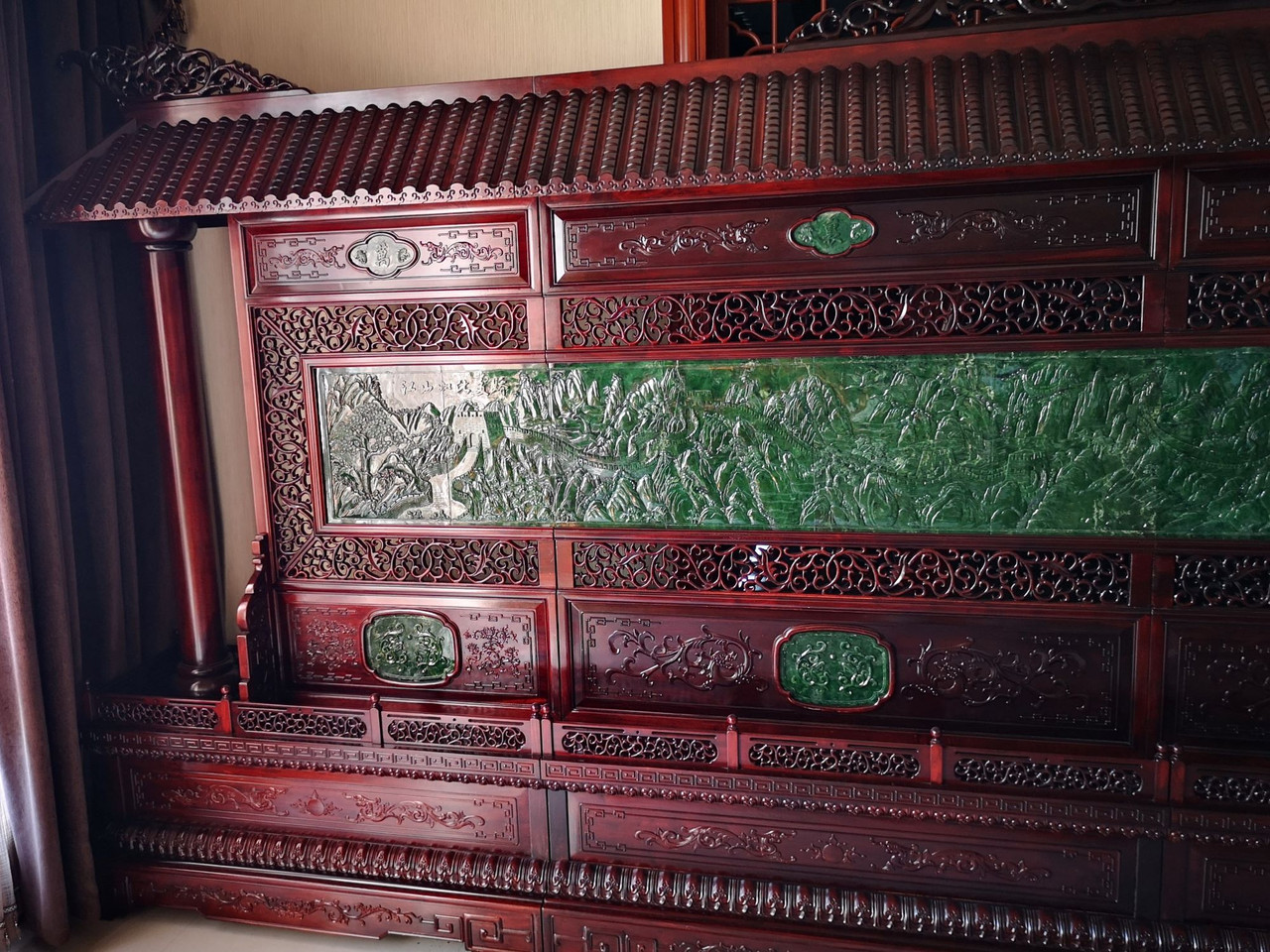 Big Green Jade Chinese Screen