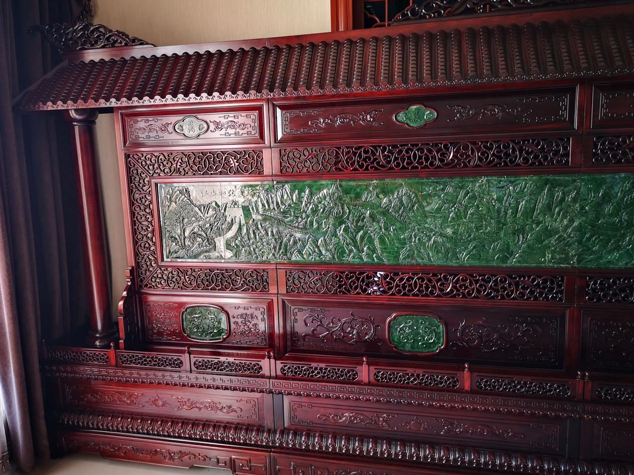 Big Green Jade Chinese Screen