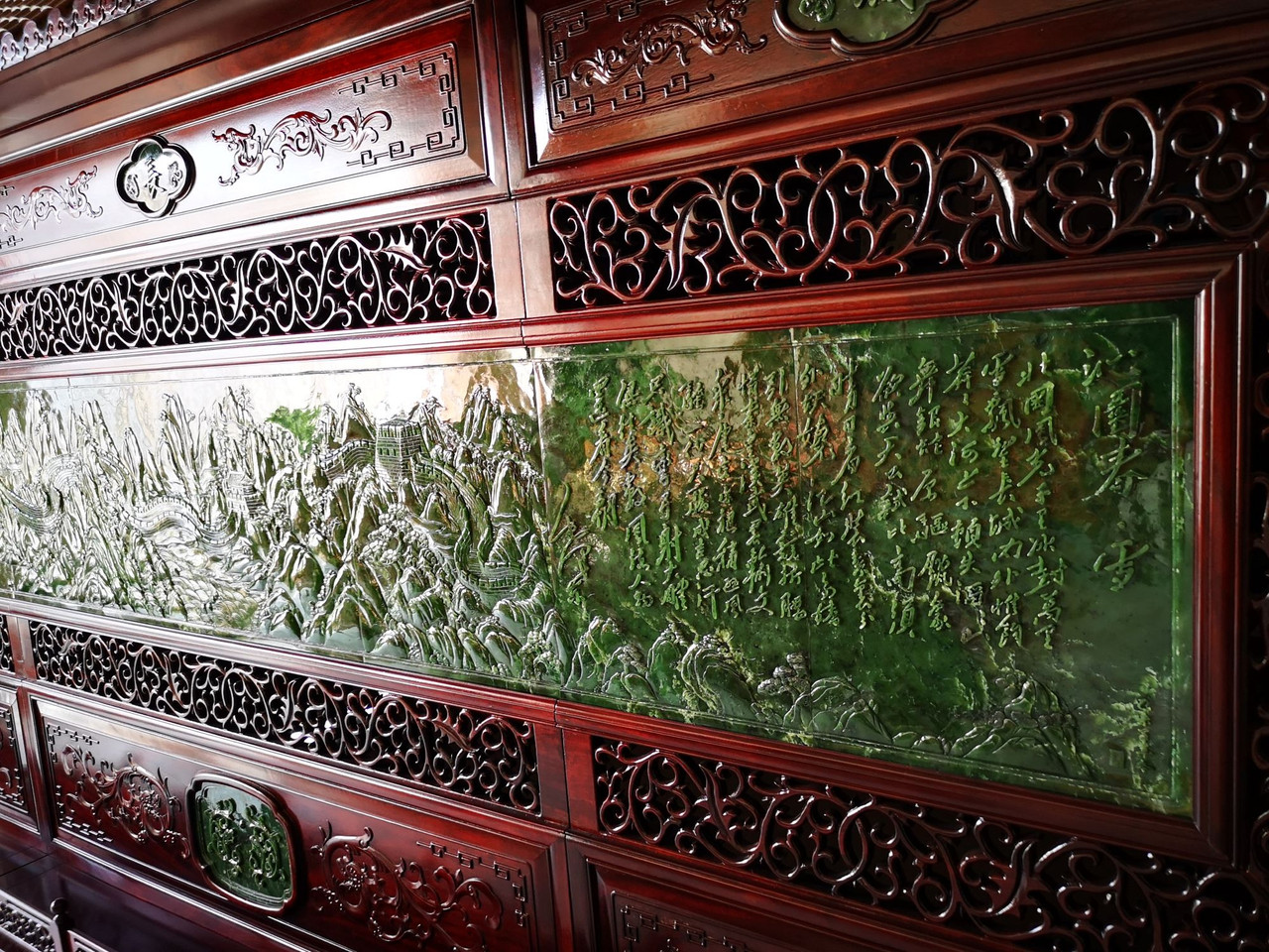 Green Jade Room Divider